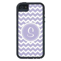 Chevron Monogram Retro Purple and White iPhone 5 Covers