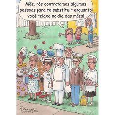 """Boa noite!!! Com os devidos créditos do cartunista abaixo!!!! #materniarte #grupomamaesdesp( em tempo: vi essa imagem """"Re"""" compartilhada sem os devidos créditos)"""