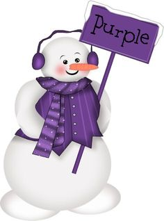 Two of my favorite things... purple and snowmen!