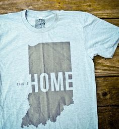 This is Home Tee - United State of Indiana (Grey). $20.00, via Etsy.