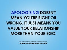 I don't care who apologizes first...I just want to be accountable, even if I was unclear.
