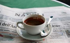 Sales of espresso cups are now outselling coffee mugs for the first time