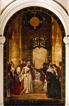 16. Opening of the Royal Exchange by Her Majesty Queen Victoria ... Great Fire Of London, The Great Fire, Tower Of London, London City, Frederick Leighton, Edward Iv, Alfred The Great, Magna Carta, King John