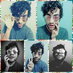 #curly #blackhair #cute #boy #selfie #glasses #kayoqueiroz