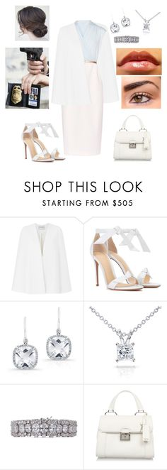 """""""FBI 2"""" by maria-eugenia-i on Polyvore featuring Amanda Wakeley, Ted Baker, Alexandre Birman, Anne Sisteron, Annello, CZ by Kenneth Jay Lane and Miu Miu"""