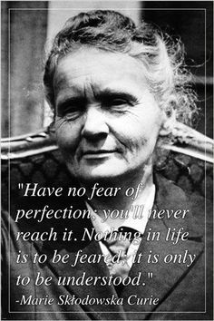MARIE CURIE famous physicist and chemist INSPIRATIONAL QUOTE POSTER 24X36 Brand New. 24x36 inches. Will ship in a tube. - Multiple item purchases are combined the next day and get a discount for domes