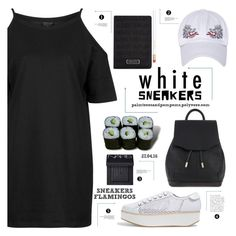 """Bright White Sneakers"" by palmtreesandpompoms ❤ liked on Polyvore featuring Flamingos, rag & bone, Topshop, Marc Jacobs, Jura, NARS Cosmetics and whitesneakers"
