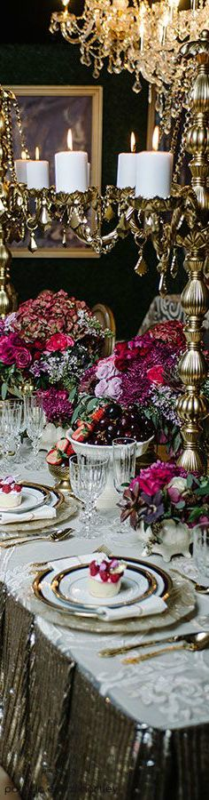 Old world style luxury tablescape