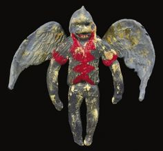 This rare Flying Monkey special effects prop is constructed of grey and pink/red painted rubber, and was used for various perspective shots in the Flying Monkey sequences to complement the costumed actors. Measuring 8 in. tall, the wings (detached from the torso so that they can be articulated) stretch out to an 8 in. wingspan,and the prop still retains its Simian-like head with long slender legs. Winged Monkeys, Adventure Film, Flying Monkey, Red Paint, Special Effects, Wizard Of Oz, Wizards, Perspective, Behind The Scenes