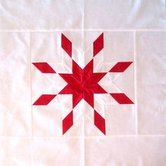 Peggy's cornerstone for Lone Star quilt - so simple but striking.