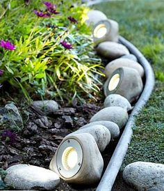 Landscape lights that look like rocks!