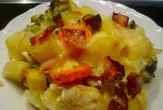Francouzské brambory | NejRecept.cz Baked Potato, Macaroni And Cheese, Cabbage, Potatoes, Baking, Vegetables, Ethnic Recipes, Meat, Easy Meals