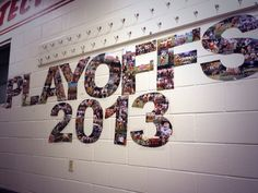 Football playoffs decorations.