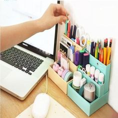 DIY Makeup Cosmetic Paper Board Storage Desk Container Box Organizer Stationary | eBay