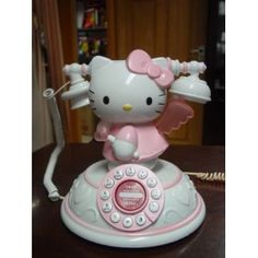 BIG Antique Hello Kitty Angel Telephone Desk Corded Telephone Wired Phone New Hello Kitty House, Hello Kitty Themes, Miss Kitty, Sanrio Hello Kitty, Hello Kitty Gifts, Hello Kitty Collection, Living Dolls, Pretty In Pink, Cute Cats