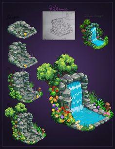 2d Game Art, Video Game Art, Environment Concept Art, Game Environment, Pixel Art, Disneysea Tokyo, Wave Illustration, Background Drawing, Cute Games