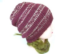 Dark Red Beanie, Slouchy Beanie, Christmas Gift for Her Crochet Gifts, Knit Crochet, Custom Made Hats, Slouchy Beanie, Acrylic Wool, Christmas Gifts For Her, Dark Red, Knits, Hand Knitting