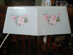 Sweet Vintage Bed Lamp Pink Flowers Vintage Floral  Bed Lamp by VintageByRew on Etsy