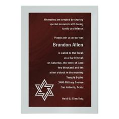 Bar Mitzvah Red and Silver wityh Star of David Custom Invites This site is will advise you where to buyDeals          Bar Mitzvah Red and Silver wityh Star of David Custom Invites Review from Associated Store with this Deal...