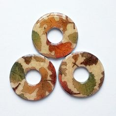 Fall leaves washer necklaces now available