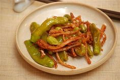 peppers and dried squid