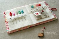 Cute Needle-book: Tutorial for a needle-book to add to your sewing box.