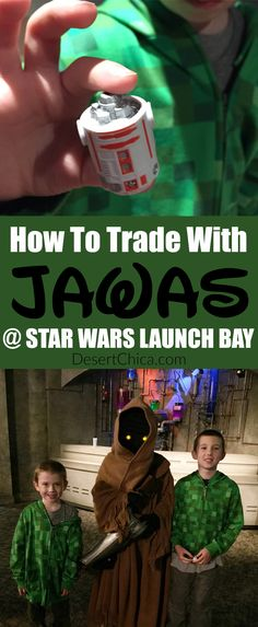 Don't miss the coolest Star Wars encounter at Walt Disney World. Come prepared to trade with Jawas at the Star Wars Launch Bay at Disney's Hollywood Studios! via /DesertChica/ Disney World 2017, Walt Disney World Vacations, Disney Trips, Disney Parks, Disney Travel, Family Vacations, Disney Cruise, Family Travel, Disney Souvenirs