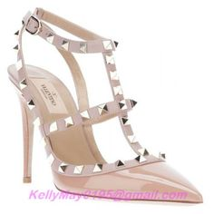 Real Valentino Rockstud Shoes Patent 100mm nude,Real Valentino Rockstud Shoes outlet Online Store