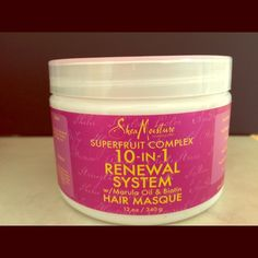 Shea Moisture 10-in-1 Moisture Renewal System Mask This intensive antioxidant-rich treatment helps to perfect and renew vibrancy to brittle, lackluster hair. When used weekly in our 10-IN-1 RENEWAL SYSTEM, it treats damaged hair while providing anti-aging benefits, color protection, hydration, nourishment, rejuvenation, strength, anti-stress, deep conditioning, softness and shine. Shea Moisture Other