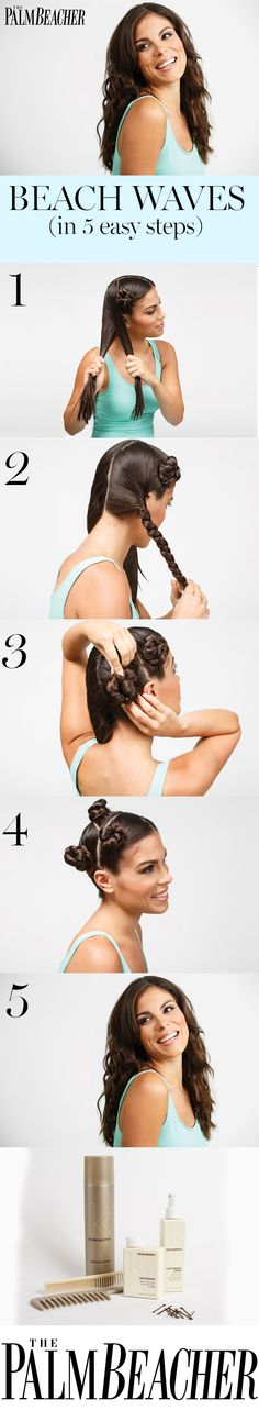 Get Palm Beach ready in 5 easy steps for this perfect wavy hair