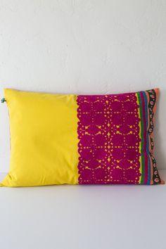 taj large yellow holi pillow