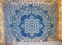 http://www.2uidea.com/category/Tapestry/ Blue Mandala Tapestry