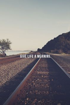 Give life a meaning. #quotes