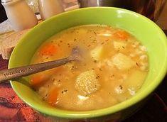 Recept na Rumfordská polévka 1 kghovězích nebo vepřových kostí 200 gžlutého hrachu 200 gbrambor 200 gkrup 1-2 kscibule 2 ksmrkve 1/2 ksceleru majoránka česnek pepř voda sůl