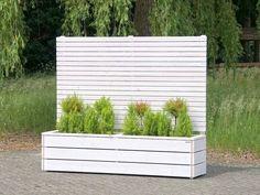 sichtschutz mit blumenkasten pflanzkasten blumenkasten holz wei. Black Bedroom Furniture Sets. Home Design Ideas