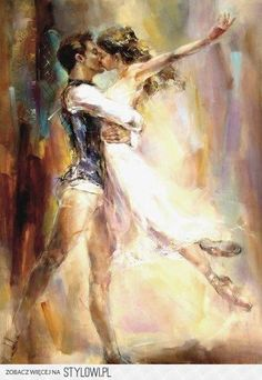 Lovely Ballett Couple Painting by madmirable