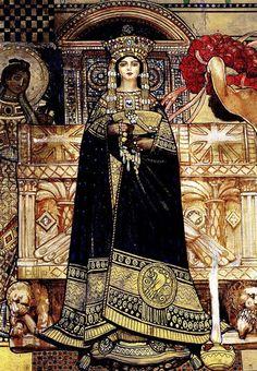 Galileo Chini, Theodora, fourth section (detail), 1909, Italian Pavilion, Venice.
