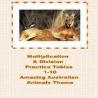 This 38 page package  (17 student worksheets and a Key) contains a series of Australian Animal themed math worksheets providing practice for the mu...