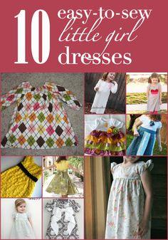 10 easy-to-sew little girl dresses