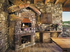 Rustic outdoor grill
