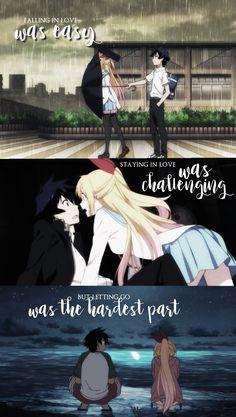 Anime: Nisekoi (c)owner Sad Anime Girl, I Love Anime, Me Me Me Anime, Sad Anime Quotes, Manga Quotes, Nisekoi, A Silent Voice, Cute Love, Pokemon
