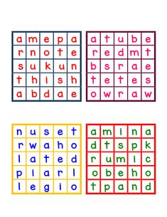 32 Mini Boggle Boards & Recording Sheet Boggle Game, Boggle Board, Challenge Cards, Girl Scout Juniors, Teachers Corner, English Classroom, Online Tutoring, Recording Sheets, Google Classroom