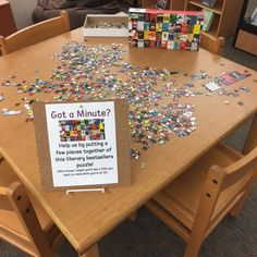 Library jigsaw puzzle | Passive programming | School library Teen Library Space, Kids Library, Elementary Library, Library Books, Library Ideas, Kids Programs, School Programs, Library Programs, Library Skills