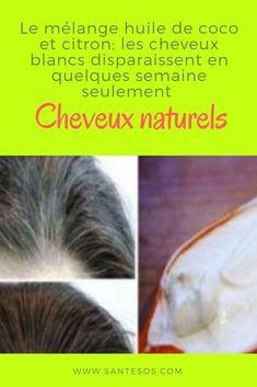 Le mélange huile de coco et citron: les cheveux blancs disparaissent en quelques semaine seulement #mélange #cheveux #coco #citron #blancs Cancer, Lock Of Hair, White Hair, Coconut Oil, Getting Old, Figs