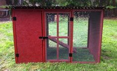 coop door with hardware cloth instead of chicken wire