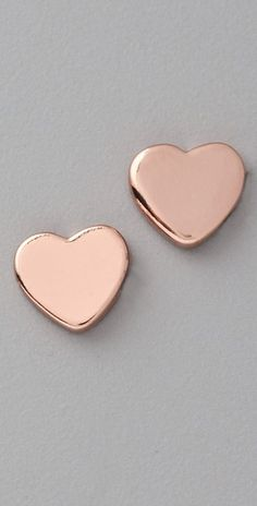 Marc by Marc Jacobs Mini Charm Heart Stud Earrings - been looking for rose gold earrings! I WANT