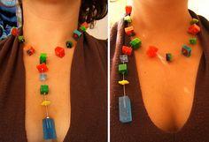 collar cubitos de colores | cubitos de resina de diversos co… | Flickr