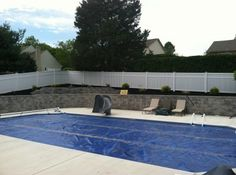Retaining wall & poolscape in York, Pa by Ryan's Landscaping.