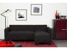 Canapé d'angle fixe réversible 4 places MARCUS coloris noir - pas cher ? C'est sur Conforama.fr - large choix, prix discount et des offres exclusives Canapé d'angle sur Conforama.fr