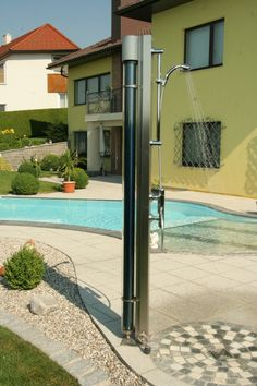 garden shower Solar Shower, Garden Shower, Bathroom, Outdoor Decor, Home Decor, Washroom, Decoration Home, Room Decor, Full Bath